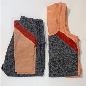Beyond Yoga Colorblock Spacedye Set, Grey size XS